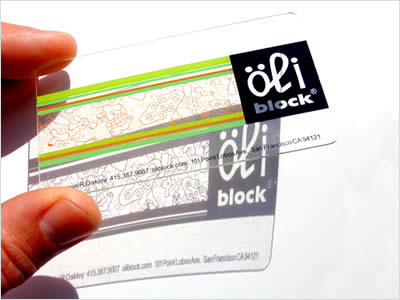 Oliblock bussiness card